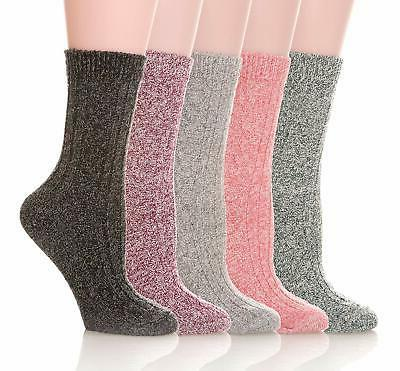 womens 5 pairs soft thick comfort casual