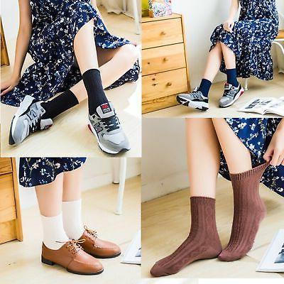 Womens Color Casual Cotton Comfy Socks