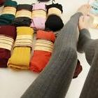 Womens Elastic Warm Winter Leggings Socks Long Thick Elastic