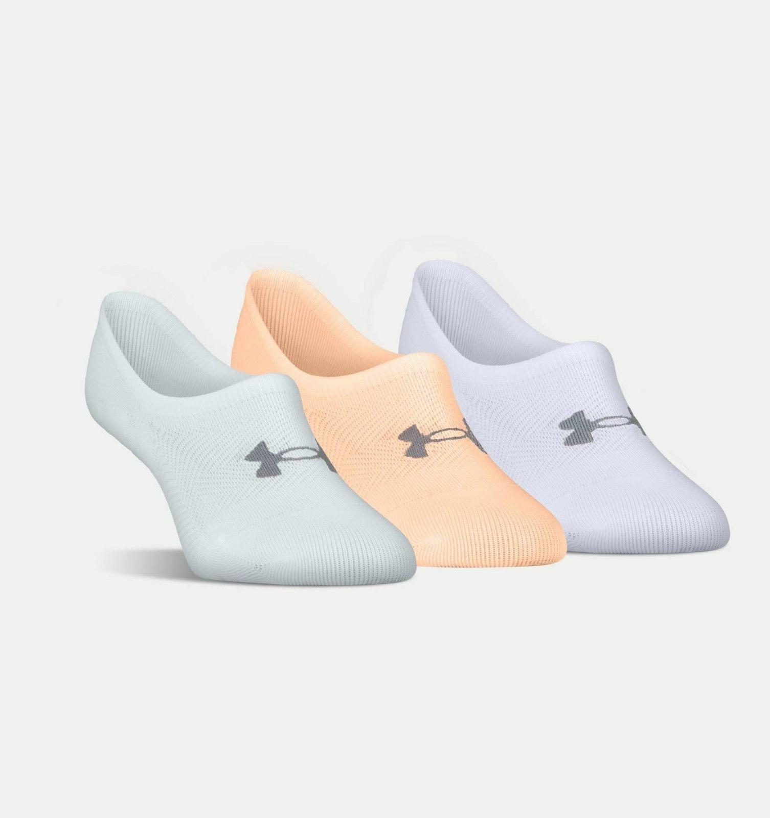 Under Armour Womens UA Essential Ultra Low 3-Pack  Sock- Pic
