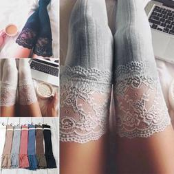Women Winter Cable Knit Long Boot Socks Over Knee Thigh High