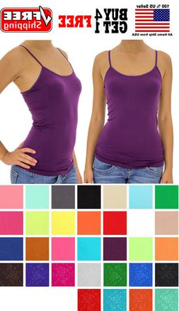 Ladies Women Basic Spaghetti Strap CAMI CAMISOLE TANK TOP La