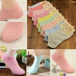 Lady Women Sports Cute Socks Cotton Summer Candy Color