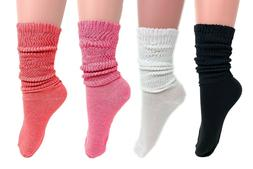 Extra Thin Lightweight Slouch Socks for Women 4 PAIRS Size 9