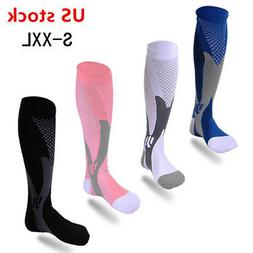 Mens Compression Socks 20-30 mmhg Sports Knee High for Runni