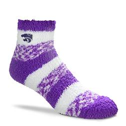 For Bare Feet NCAA RMC Pro Stripe Fuzzy Sleep Soft Sock -Kan