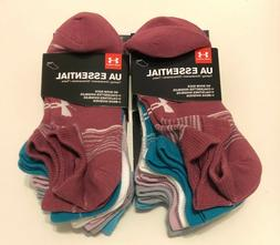 New 12 Pairs Women's No Show Under Armour UA Essential Socks