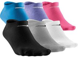 New Nike Women 6 Pair No-Show Socks Mix 6-10 M Medium SX4129