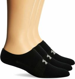 NEW UNDER ARMOUR WOMEN'S ATHLETIC SOLO NO SHOW SOCKS 3 PAIRS
