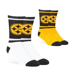 NFL Pittsburgh Steelers OTS Dasher Sport Sock 2-Pack, Team C