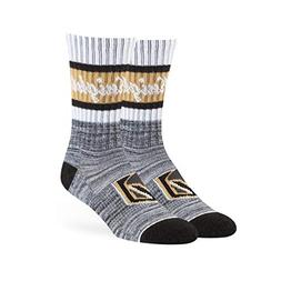 OTS NHL Vegas Golden Knights Jensen Sport Sock, Black, Mediu
