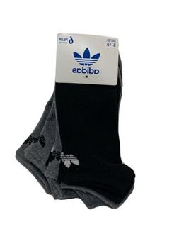 NWT Adidas Originals Trefoil No-Show Socks 6 Pairs Women's B