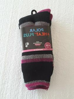 NWT Womens Polar Heat Plus Cold Weather Thermal Socks Shoe S