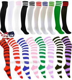 over knee stockings socks cotton thigh highs