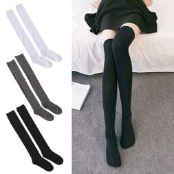 Over the Knee Long Sock Candy Color Thigh High Socks Women C