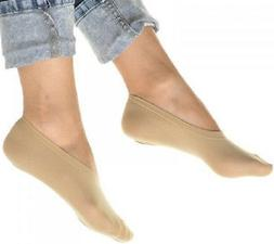 Peds Nylon Socks No Show Footies Women Shoes Boat Beige 10 P