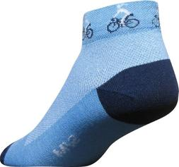 """SockGuy Classic Ponytail Womens Sock, cuff height 1"""", size S"""