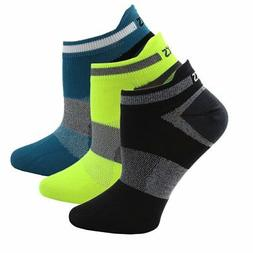 ASICS Quick Lyte Low Cut 3-Pack  Athletic Running  Socks Mul
