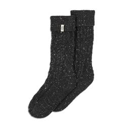 UGG Women's Black Rainboot Socks 9-11 Shaye Tall Knee-high/C