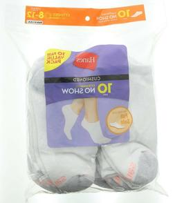 Hanes® Women's No-show Socks 10-Pack - White One Size