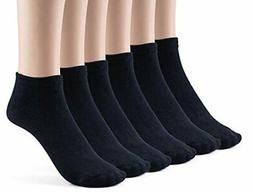 Silky Toes Women's Bamboo Low Cut Casual Socks, Navy , Size