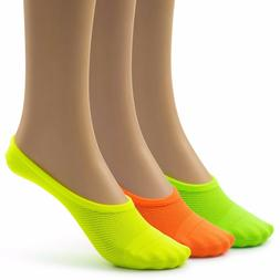 Silky Toes Womens Breathable Comfortable No Show Socks, 9-11