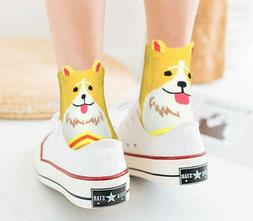 Socks Chalier 5 Pairs Womens Cute Dog Patterned Animal Col