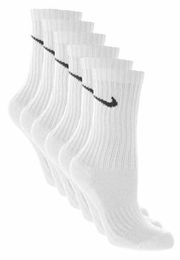 NIKE SOCKS PERFORMANCE 12 PAIR 24 NEW SOCKS CREW WHITE MEN'S