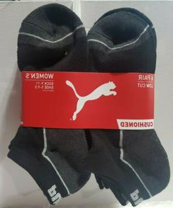Puma Socks women's 6 pairs pack CUSHIONED Low Cut size 9- 11