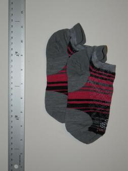 SMARTWOOL Socks Women's Small 4-6.5 Low Ankle Gray Black Pin