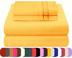Mezzati Luxury Bed Sheet Set - Soft and Comfortable 1800 Pre