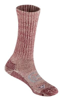 KEEN Women's Targhee Lite Crew Socks, Ruby Wine, Large