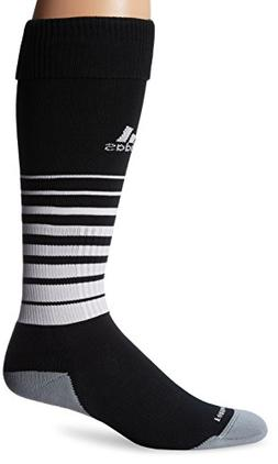 adidas Team Speed Soccer Socks , Black/White, Large