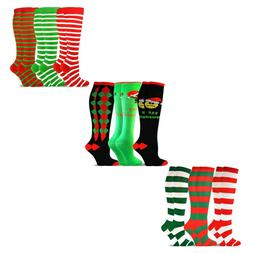 TeeHee Christmas and Holiday Fun Knee High Socks for Women 3