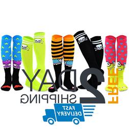 TeeHee Novelty  Pirate Cotton Knee High Fun Socks 5-Pack for