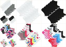 TeeHee Women's No Show Low Cut Fun Socks 12 Pairs Packs Soli