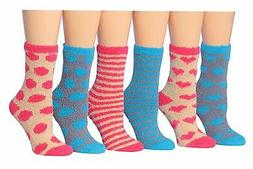 Tipi Toe Women's 6-Pairs Patterned & Solid Anti-Skid Soft Fu