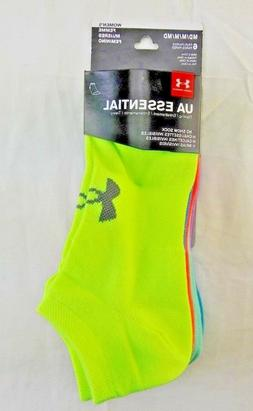 UA Under Armour No Show ESSENTIAL Socks Women's M/MD 7-10.5