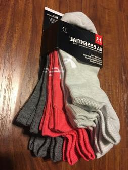 UA Women SOCKS No-Show 6-Pair Essential Training Multi-Color