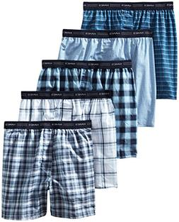 Hanes Men's Tartan Boxers with Comfort Flex Waistband 5-Pack