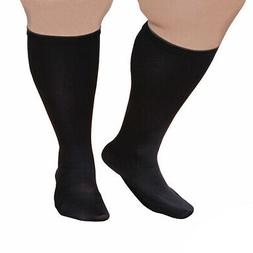 Unisex Extra Wide Moderate Compression Knee High Socks -Up t