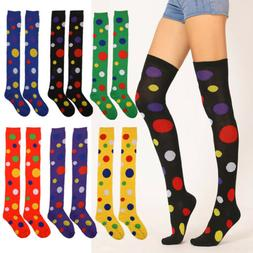 USA Women Cotton Over The Knee Long Socks Colorful Thigh Hig