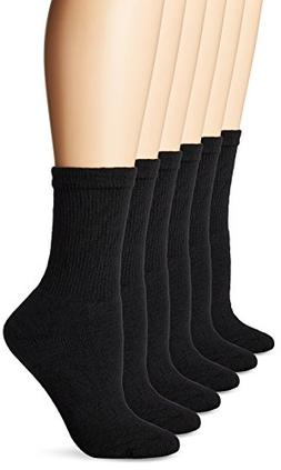 Fruit of the Loom Womens Value Pack Crew Socks, 6 Pairs