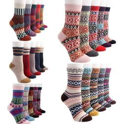 ⭐Vintage Style Winter Warm Thick Knit Wool Cozy Crew Socks