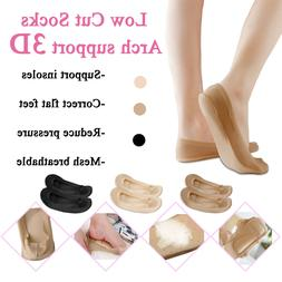 Women 3D Cushion Low Cut Ankle No Show Invisible Liner Soft