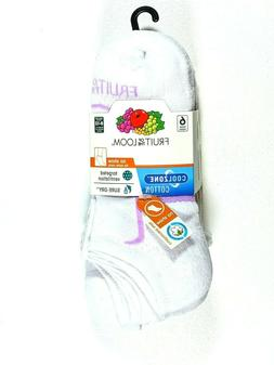 Fruit of The Loom Women Cool Zone No Show Socks 6-Pair Shoe