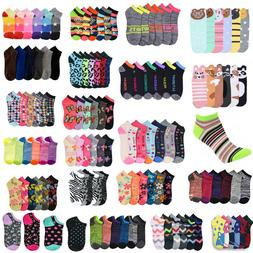 Women Girl Mixed Assorted Designs Color Ankle Socks Wholesal