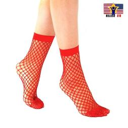 Women Girl Sheer Fashion Hot Sexy Stocking Hosiery Mesh Red
