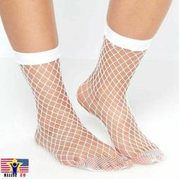 Women Girl Sheer Fashion Sexy Stocking Hosiery Mesh White Fi