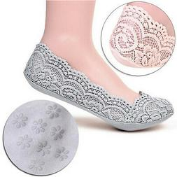 Women Lace Liner Socks No Show Peds Low Cut Sock Ballet Plai